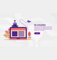 concept blogging modern conceptual for banner vector image vector image