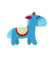 cute cartoon blue horse animal toy colorful vector image vector image