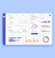 dashboard ui infographic data graphic and chart vector image vector image
