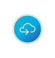 data cloud circle button backup restore upload vector image