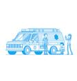 doctors near the ambulance car vector image vector image