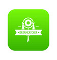 dreamcatcher icon green vector image vector image