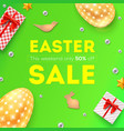easter sale discount of 50 percent off pattern vector image vector image