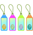 easter shopping tags vector image vector image