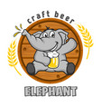 elephant beer logo vector image vector image