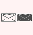 envelope line and glyph icon mail letter postal vector image vector image