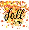 Fall sale lettering banner Discount autumn poster vector image