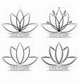 floral lotus flower logo abstract vector image vector image