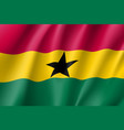 ghana realistic flag vector image vector image