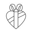 gift box shaped heart vector image