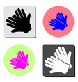 gloves flat icon vector image vector image