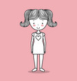 happy young girl cute hand drawn image vector image