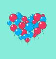heart of balls vector image vector image