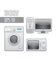 household appliances icon set vector image