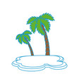 isolated beach palm vector image vector image