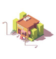 isometric bicycle shop vector image vector image