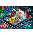 Isometric Infographic of Great Britain on Tablet vector image vector image