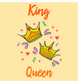 King and queen crown style collection vector image