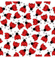 ladybug seamless pattern art background vector image vector image