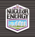logo for nuclear energy vector image