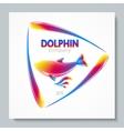 Luxury image logo Rainbow Dolphin To design vector image vector image