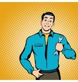 Mechanic concept comics style vector image vector image