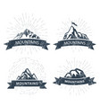 mountain peaks labels and emblems - ski resort vector image vector image