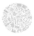 music circle background from line icon vector image vector image