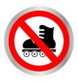No roller skates vector image vector image