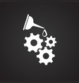 oiler can gears on black background vector image