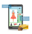 online store application flat style design vector image