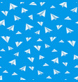 Origami paper airplane seamless background