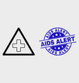 outline medical warning triangle icon and vector image vector image