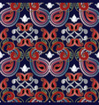 paisleys seamless pattern vector image vector image