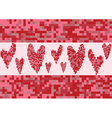 red heart love pixel vector image