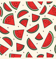 red slices of watermelon seamless pattern summer vector image vector image