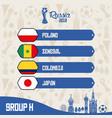 russia football teams group vector image vector image