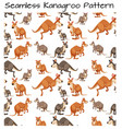 seamless kangaroo pattern scene vector image