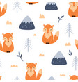 seamless pattern cute bafox vector image