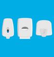set dispensers paper towel dispensers soap vector image vector image