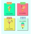 set of bright cards with lemonade ice vector image vector image