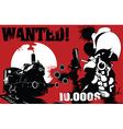 sheriff wanted poster vector image vector image