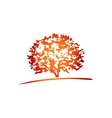 treetop vector image
