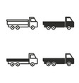 truck icon set vector image vector image