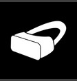 vr glasses it is icon vector image