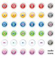 web internet audio buttons vector image