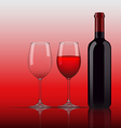 Wine Glass Bottle vector image vector image