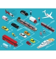 Transport infographics information layout with vector image