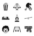 children cheerfulness icons set simple style vector image