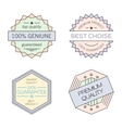 Colorful geometric minimal vintage badges vector image